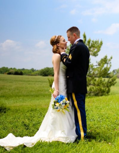 Littleton wedding photographer bride and groom military man in love summer marriage married white dress