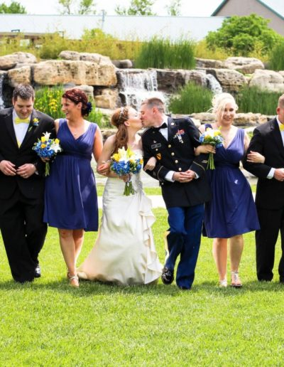 Littleton wedding photographer summer weddings bridal party military groom