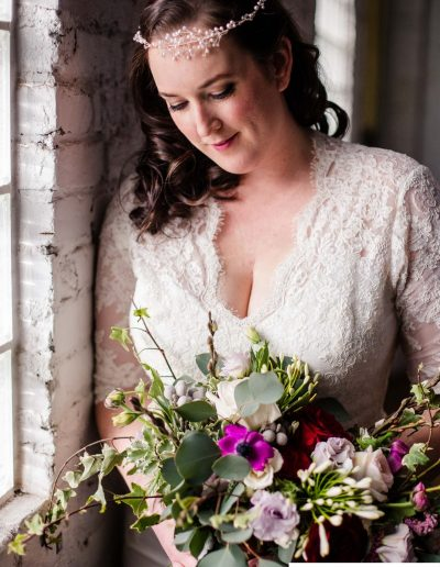 Littleton wedding photographer bridal portrait bouquet weddings flowers