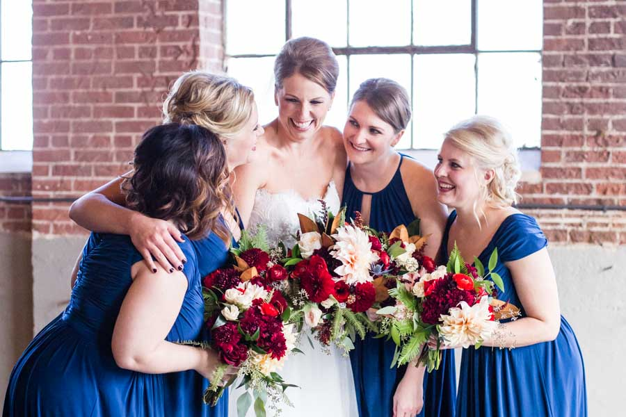 Littleton wedding photographer Denver Moss bridal party