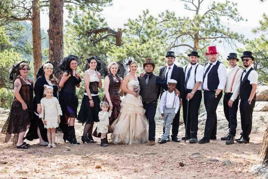 Littleton wedding photographer steam punk
