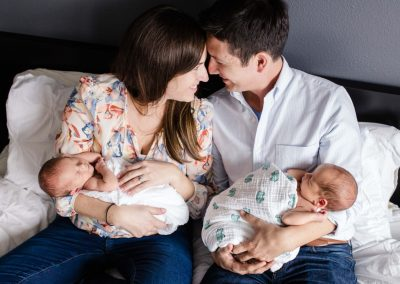 Littleton family photographer of twins babies in CO