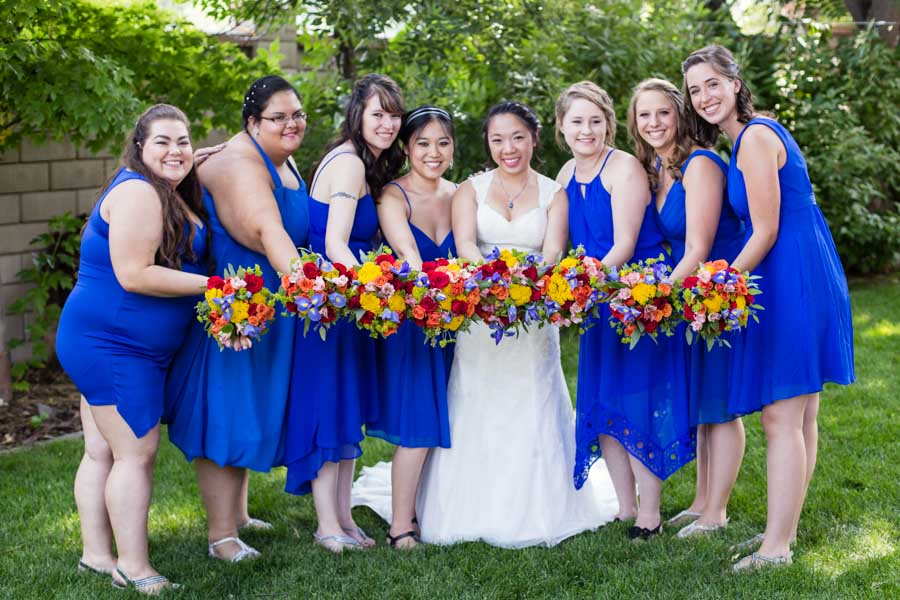 Littleton wedding photographer Molly Brown summer house bridal party portraits