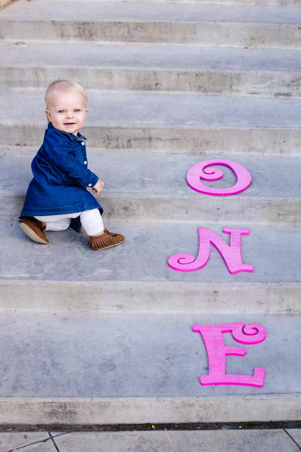 Littleton photographer baby milestone one years old