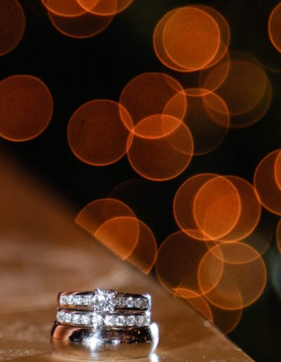 Littleton wedding photographer pretty ring bokeh detail shot