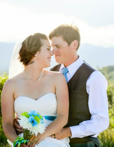 Littleton wedding photographer in Colorado Highlands Ranch Daniels park view mountain foothills area summer bride and groom in love married marriage