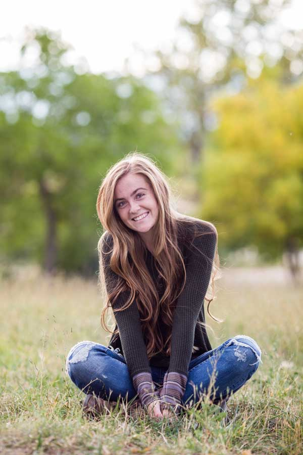 Littleton high school senior portrait photographer in Colorado school graduate girl soccer player