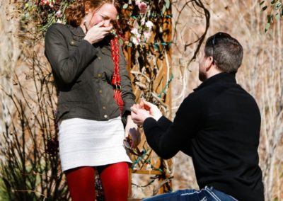 Littleton photographer engagement session engaged surprise proposal
