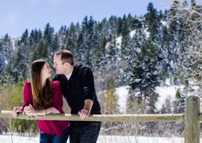 Littleton Colorado snow photographer couple engaged engagement session