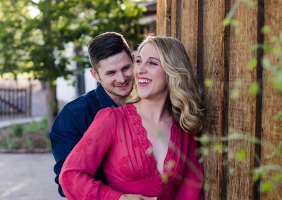 Littleton engagement wedding photographer couple in love Colorado engaged ring bride and groom Lakewood Heritage Center