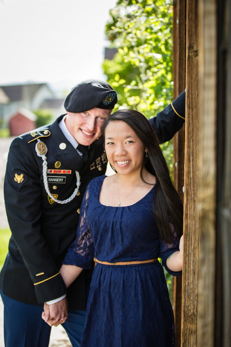 Littleton military engagement session photographer engaged Colorado