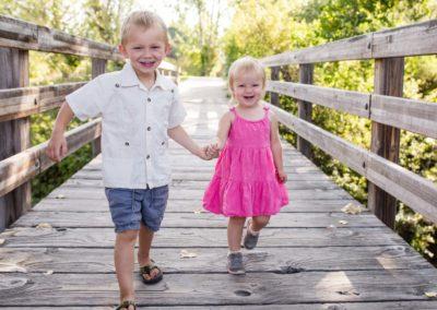 child kid sibling family Littleton photographers bridge Writer's Vista Park brother sister kids