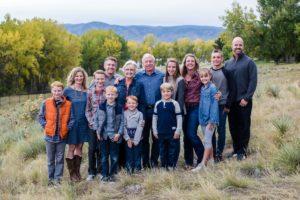 Littleton family photographer extended photography Writer's Vista Park Centennial Colorado mountain views fall big love cousins grandparents