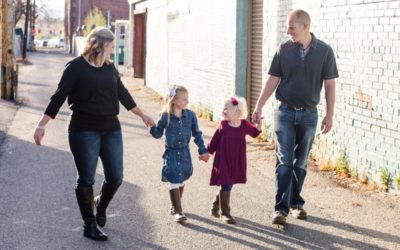 The {K} Family of 4 {an urban session in Downtown Littleton}