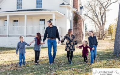 The {P} Family of 6 at Fly'N B Park [Littleton Photographer]