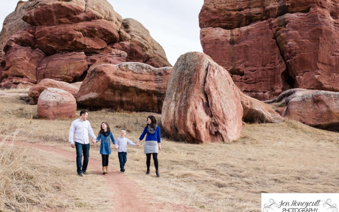 The {K} Family of 4 in the Ken Caryl Valley [Littleton Family Photography Session]
