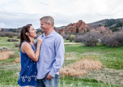 Littleton photographer Roxborough State Park Colorado photography engagement session red rocks in love couple engaged
