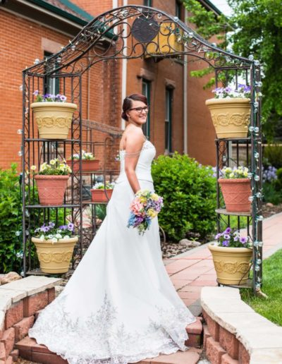 Littleton wedding photographer bride to be bridal portrait Molly Brown Summer House