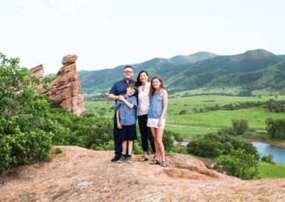 Littleton family photographer South Valley Open Space park red rocks Colorado summer kids parenthood photo session photography
