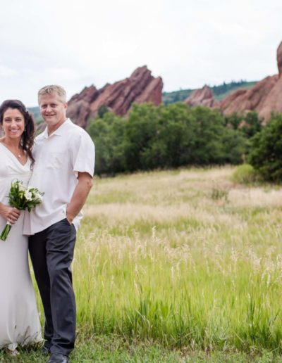 Littleton wedding photographer Roxborough State Park red rock formations bride groom love summer tall grass married marriage