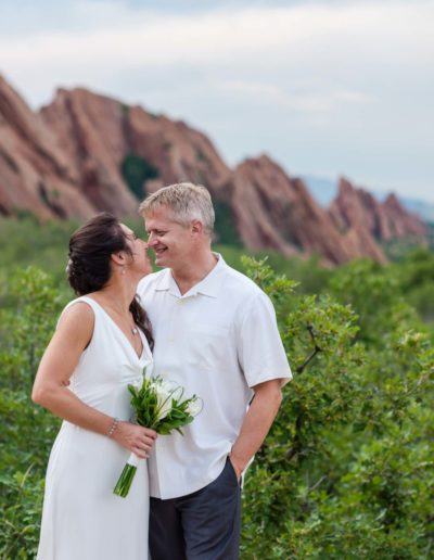 Littleton wedding photographer bride groom nose to love Roxborough State Park red rock formations