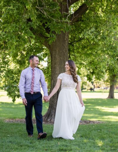 Littleton wedding photographer in love couple Denver City Park Colorado bride groom photography elope elopement eloped dress summer outdoors nature