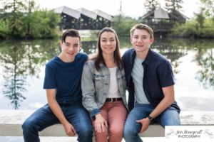 Littleton family photographer Lakewood Heritage Center Colorado photography Belmar park lake pond mountain mountains view siblings teen teens brothers sister big little summer golden hour sunset natural light