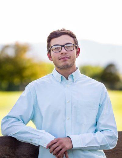 Littleton high school senior boy Colorado Thunder Ridge photography portrait session football class of 2020 foothills