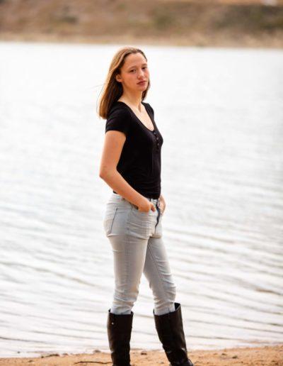 Littleton high school senior portrait session photographer in Colorado photography Broomfield swimmer swim team water girl Morrison Red Rocks and Bear Creek Lake park