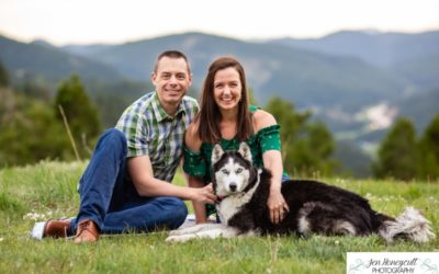 An adoption photo session for the {B} family at Mt. Falcon park by Littleton photographer