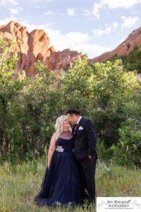 Littleton wedding elopement photographer in Colorado Roxborough State park red rocks in love husband and wife groom bride eloped private ceremony summer pandemic