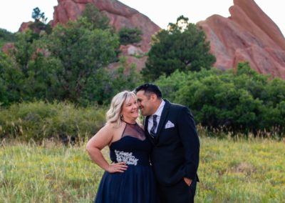 Littleton wedding elopement photographer in Colorado Roxborough State park red rocks in love husband and wife groom bride eloped private ceremony summer pandemic small intimate