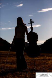 Littleton high school senior photographer Colorado Hildebrand Ranch valley girl cello player Standley Lake portrait session music instrument smart bright natural light class of 2021