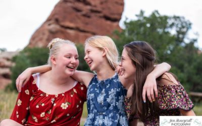 BFF photo session at South Valley Open Space park and with sunflowers by Littleton photographer