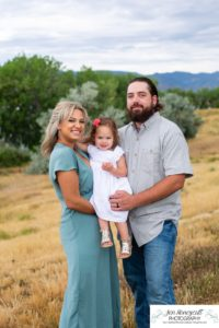 Littleton family photographer Writer's Vista park toddler baby girl wooden bridge two years old Colorado photography