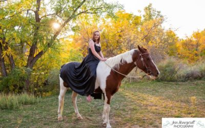 Allie's senior photo session with her horse by Littleton high school photographer