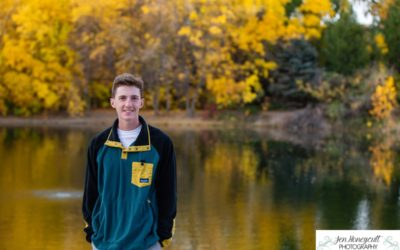 Griffin's high school senior portrait photography session at Fly'N B park in Highlands Ranch by Littleton photographer