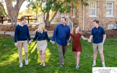 The {W} family of 5 at The Stone House in Lakewood by Littleton photographer