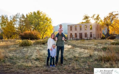The {W} family of 4 in the Ken Caryl Valley by local Littleton photographer