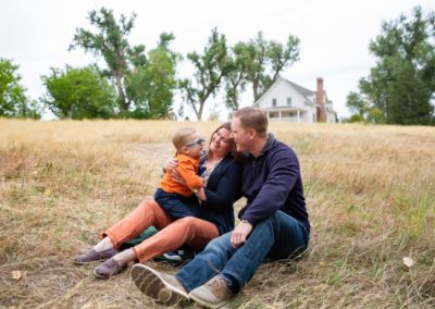 Littleton family photographer Fly'N B park Highlands Ranch Colorado CO little boy mother father son fall