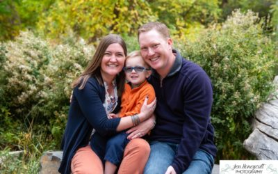 The {P} family at Fly'N B park in Highlands Ranch for a fall photo session by Littleton photographer