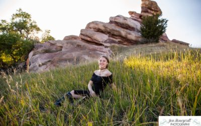 Karis high school senior portrait session in Ken Caryl Valley by local Littleton photographer