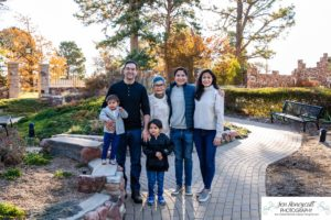 Littleton family photographer Colorado Highlands Ranch Mansion extended grandma grandmother grandchildren uncle toddler big brother little sister fall photo session natural light photography stone house cute kids
