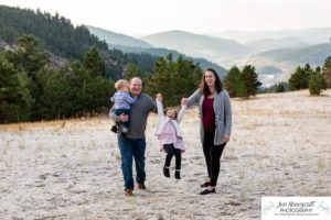 Littleton family photographer Mt. Falcon park Colorado mountains mountain views foothills fall photo session baby maternity little boy girl brother sister mother father connection frost snow sweet cute morning light natural photography