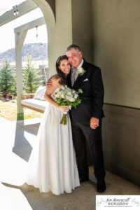 Littleton wedding photographer Wedgewood Ken Caryl marriage foothills COVID ceremony masks small bride groom bridesmaids groomsmen white dress flowers fall pretty day mr. and mrs. photography