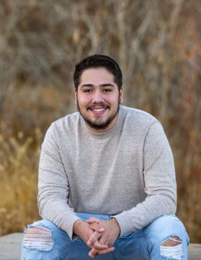 Littleton high school senior photographer Hildebrand Ranch park Jefferson County Columbine graduate class of 2021 boy son winter portrait session