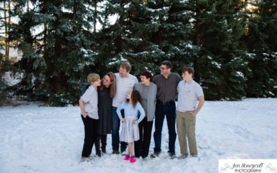 The {G} extended family photo session in snowy Morrison by Littleton photographer