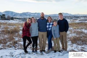 Littleton family photographer local park near me foothills snow winter photo session kids teens children church boys brothers girls sisters sunset photography mini