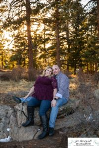 Littleton engagement photographer Mt. Falcon in love husband wife engaged mr. and mrs. mountains Colorado April wedding future marriage married diamond ring photography sunset