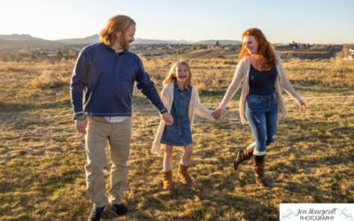 A mini family photo session at a local park by Littleton photographer